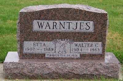 WARNTJES, ETTA - Sioux County, Iowa | ETTA WARNTJES