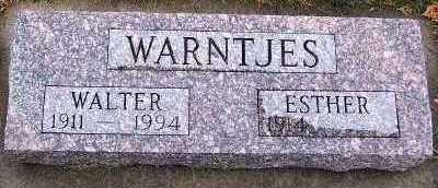 WARNTJES, WALTER - Sioux County, Iowa | WALTER WARNTJES