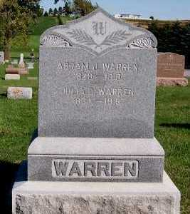 WARREN, JULIA D. - Sioux County, Iowa | JULIA D. WARREN