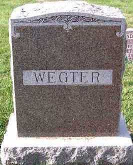 WEGTER, FAMILY HEADSTONE - Sioux County, Iowa | FAMILY HEADSTONE WEGTER