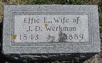 WERKMAN, EFFIE E. - Sioux County, Iowa | EFFIE E. WERKMAN