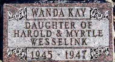 WESSELINK, WANDA KAY - Sioux County, Iowa | WANDA KAY WESSELINK