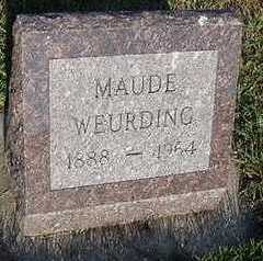 WEURDING, MAUDE - Sioux County, Iowa | MAUDE WEURDING