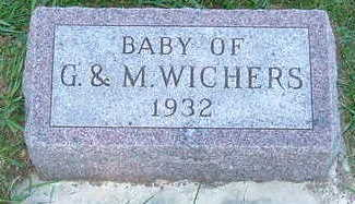 WICHERS, BABY OF G. & M. - Sioux County, Iowa | BABY OF G. & M. WICHERS