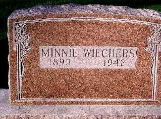 WIECHERS, MINNIE - Sioux County, Iowa | MINNIE WIECHERS