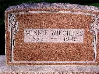 WIECHERS, MINNIE - Sioux County, Iowa | MINNIE WIECHERS