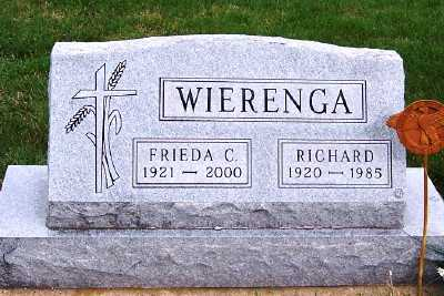 WIERENGA, FRIEDA C. - Sioux County, Iowa | FRIEDA C. WIERENGA