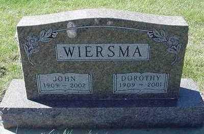 WIERSMA, DOROTHY - Sioux County, Iowa | DOROTHY WIERSMA