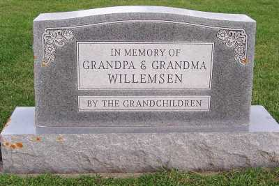 WILLEMSEN, FAMILY HEADSTONE - Sioux County, Iowa | FAMILY HEADSTONE WILLEMSEN