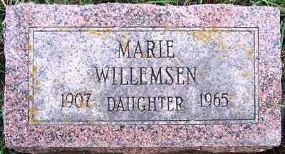 WILLEMSEN, MARIE - Sioux County, Iowa | MARIE WILLEMSEN