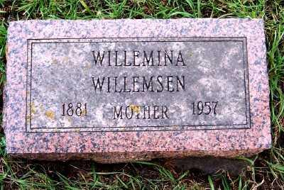 WILLEMSEN, WILLEMINA - Sioux County, Iowa | WILLEMINA WILLEMSEN