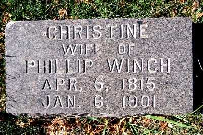 WINCH, CHRISTINE (MRS. PHILLIP) - Sioux County, Iowa | CHRISTINE (MRS. PHILLIP) WINCH