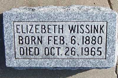 WISSINK, ELIZEBETH - Sioux County, Iowa | ELIZEBETH WISSINK