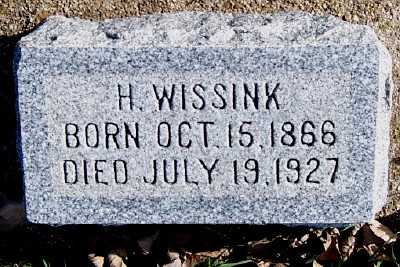 WISSINK, H. - Sioux County, Iowa | H. WISSINK