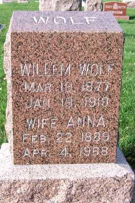 WOLF, ANNA (MRS. WILLEM) - Sioux County, Iowa | ANNA (MRS. WILLEM) WOLF