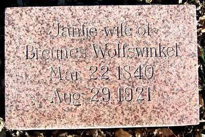 WOLFSWINKEL, JANTJE (MRS. BREUNES) - Sioux County, Iowa | JANTJE (MRS. BREUNES) WOLFSWINKEL