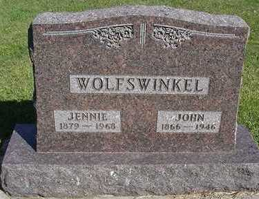 WOLFSWINKEL, JENNIE (MRS. JOHN) - Sioux County, Iowa | JENNIE (MRS. JOHN) WOLFSWINKEL
