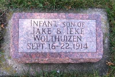 WOLTHUIZEN, INFANT SON OF JAKE & IEKE - Sioux County, Iowa | INFANT SON OF JAKE & IEKE WOLTHUIZEN