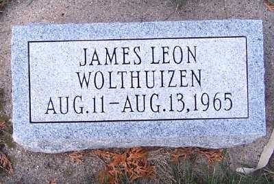 WOLTHUIZEN, JAMES LEON - Sioux County, Iowa | JAMES LEON WOLTHUIZEN