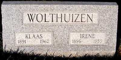 WOLTHUIZEN, IRENE - Sioux County, Iowa | IRENE WOLTHUIZEN