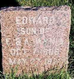 WYNIA, EDWARD (SON OF F. & A.) - Sioux County, Iowa | EDWARD (SON OF F. & A.) WYNIA