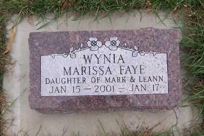 WYNIA, MARISSA FAYE - Sioux County, Iowa | MARISSA FAYE WYNIA