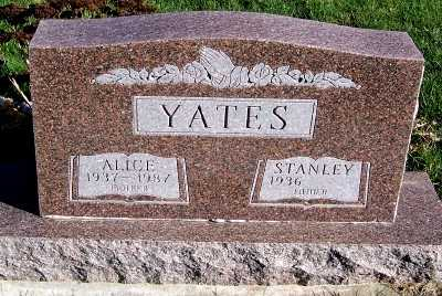 YATES, ALICE - Sioux County, Iowa | ALICE YATES