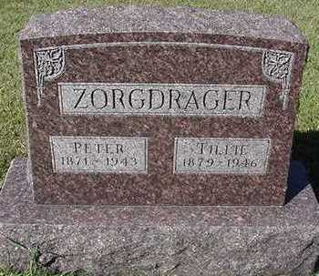 ZORGDRAGER, TILLIE (MRS. PETER) - Sioux County, Iowa | TILLIE (MRS. PETER) ZORGDRAGER