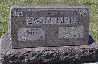ZWAGERMAN, BERTHA (MRS. PETER) - Sioux County, Iowa | BERTHA (MRS. PETER) ZWAGERMAN
