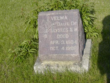 DODD, VELMA - Story County, Iowa | VELMA DODD