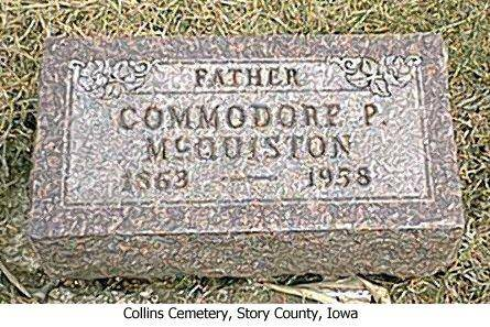 MCQUISTON, COMMODORE P. - Story County, Iowa | COMMODORE P. MCQUISTON