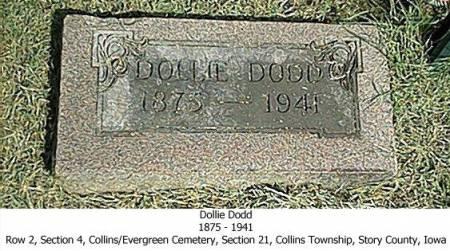 DODD, DOLLIE - Story County, Iowa | DOLLIE DODD