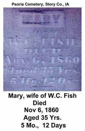 FISH, MARY - Story County, Iowa | MARY FISH