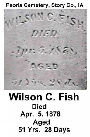 FISH, WILSON CHESTER - Story County, Iowa | WILSON CHESTER FISH
