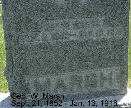 MARSH, GEORGE W. - Story County, Iowa | GEORGE W. MARSH