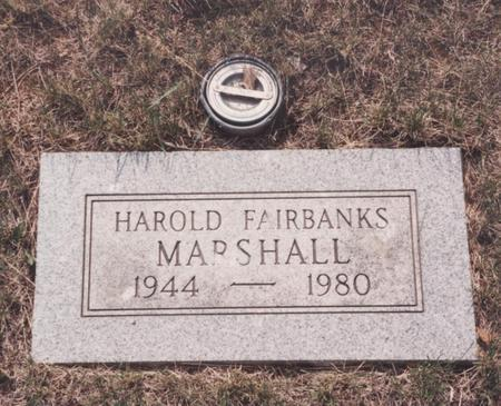 MARSHALL, HAROLD FAIRBANKS - Story County, Iowa | HAROLD FAIRBANKS MARSHALL