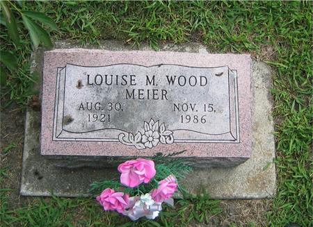WOOD MEIER, LOUISE M. - Story County, Iowa | LOUISE M. WOOD MEIER