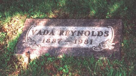 REYNOLDS, VADA - Story County, Iowa | VADA REYNOLDS