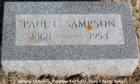 SAMPSON, PAUL C. - Story County, Iowa | PAUL C. SAMPSON