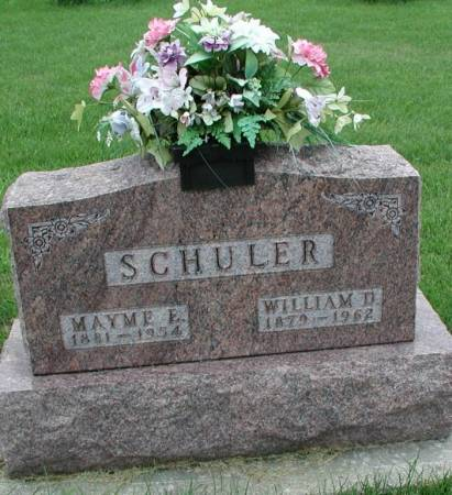 SCHULER, MAYME E. & WILLIAM D. - Story County, Iowa | MAYME E. & WILLIAM D. SCHULER
