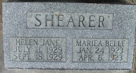 SHEARER, HELEN JANE - Story County, Iowa | HELEN JANE SHEARER