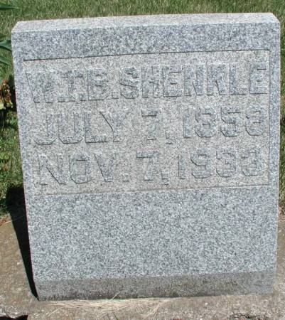 SHENKLE, WM THOMAS BENTON - Story County, Iowa | WM THOMAS BENTON SHENKLE