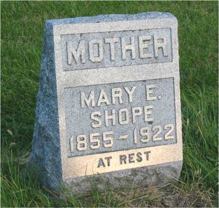 SHOPE, MARY E - Story County, Iowa | MARY E SHOPE