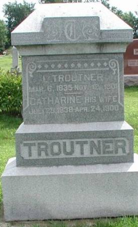 TROUTNER, L. & CATHERINE - Story County, Iowa | L. & CATHERINE TROUTNER