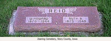 REID, W. HOWARD AND RUTH B. - Story County, Iowa | W. HOWARD AND RUTH B. REID