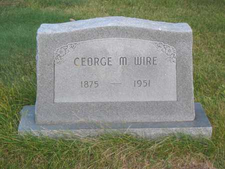 WIRE, GEORGE M - Story County, Iowa | GEORGE M WIRE