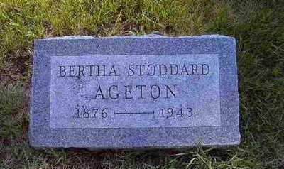 AGETON, BERTHA E - Tama County, Iowa | BERTHA E AGETON