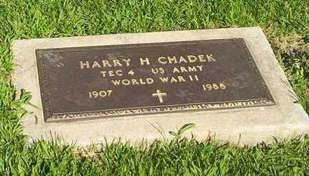 CHADEK, HARRY - Tama County, Iowa | HARRY CHADEK