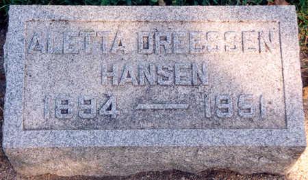 DREESSEN HANSEN, LENA ALETTA - Tama County, Iowa | LENA ALETTA DREESSEN HANSEN