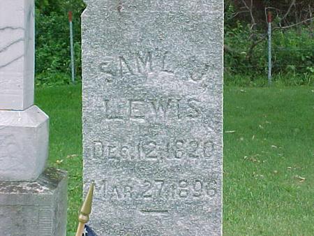 LEWIS, SAML J. - Tama County, Iowa | SAML J. LEWIS
